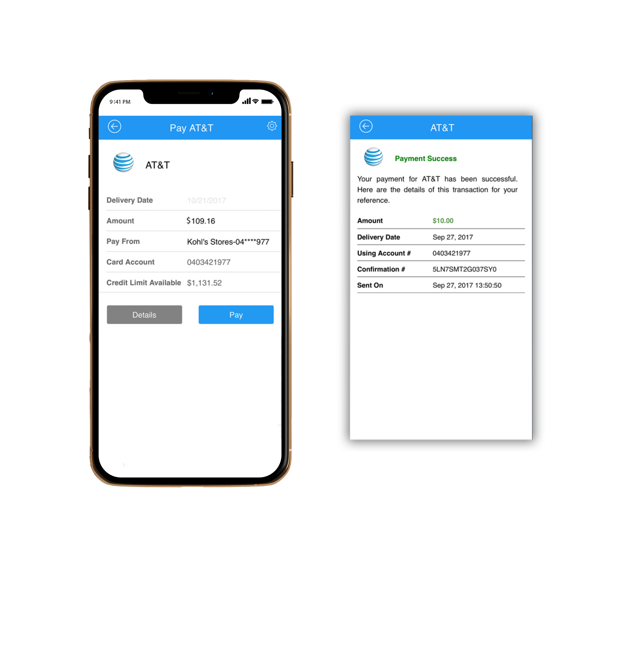 Real Time eBill Payments using ACH, Credit Card, Debit Card